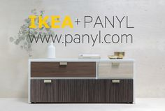 PANYL is a company devoted to helping people refresh/DIY/hack/re-do their IKEA furniture. Their products (adhesive, high-quality, flexible vinyl panels in just about every color and texture you can think of) are made SPECIFICALLY for IKEA pieces.