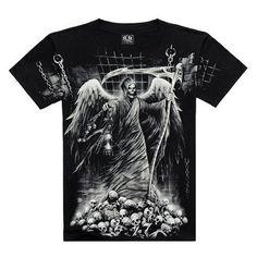 Top Quality Cotton Short Sleeve T-shirt Fashion O-Neck Casual Skull Wolf 3d Print T Shirt