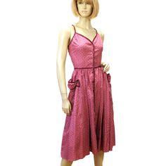 """Boysenberry Lane"" 70s Gunne Sax Dress Corset Laced Prairie Sundress Cotton S from MorningGlorious on Etsy"