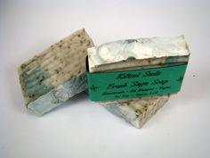 Fresh Sage Bar Soap, Natural Bar Soap, Vegan Bar Soap, Handmade Bar Soap, Vegan Sage Soap, Exfoliating Soap, Cold Process Soap - pinned by pin4etsy.com
