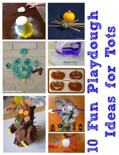 10 fun playdough activities for tots with many more ideas linked up in the weekly Tuesday Tots linky