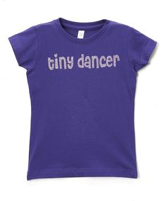 Purple 'Tiny Dancer' Tee - Infant Toddler & Girls