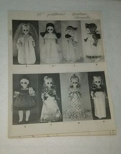 "Madame Alexander Dress Patterns For 14"" Dolls #MadameAlexander"
