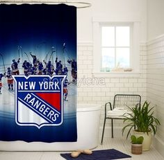 Details About New York Rangers NHL High Quality Bathroom Shower Curtain 60x72 Inch