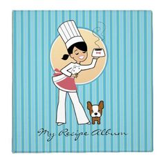 Cute Chef Personalized Recipe Binder