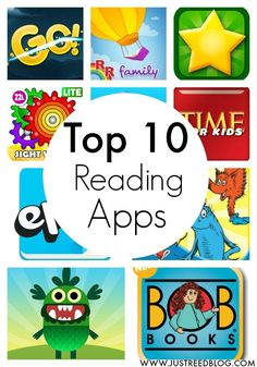 Top 10 Reading Apps! Free printable list of the 10 best reading apps for Ipads