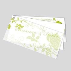 Starker Auftritt mit wenig Drumherum. Die Blumenranken geben der Hochzeitskarte alles, was sie braucht. Tipp: Diese Hochzeitskarte wirkt in allen Farben wunderschön. Paper, Card Wedding, Colors