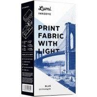 DIY pakket Inkodye 'Printen op textiel met zonlicht -blauw'