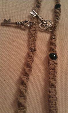 Skeleton Key Charm Hemp Bracelets