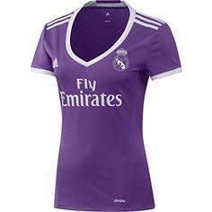 2ª Equipación Real Madrid CF 2015/16 - Camiseta oficial adidas para mujer, talla XS #camiseta #friki #moda #regalo