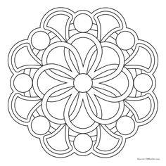 Mandala 32515 – Coloring Pages - Malvorlagen Mandala Mandala Art, Mandala Painting, Mandala Pattern, Mosaic Patterns, Dot Painting, Mandala Design, Nice Pictures To Draw, Coloring Sheets, Coloring Books