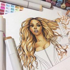 Beyoncé ✨ wip wip wip ✍️ // #art #drawing #wip #workinprogress #beyonce #sketch #copic #copicart