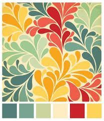 burgundy yellow curtin blue paint palette design office - Google Search