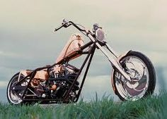 The Copper Chopper built by Jesse James....its just pretty and even prettieraround sunset...