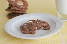 Chocolate, Peanut Butter and Marshmallow Pudding Cookies - Taste and Tell
