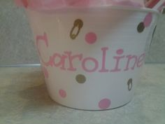 Personalized diaper bucket