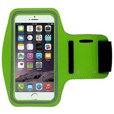 """Universal Sports Armband Casehigh Shop Easy Fitting Sports Running Armband with Build in Screen Protect Case Cover Scratch-Resistant Material Slim Light-Weight (Armband Green 1 Pack CaseHQ shop). Universal Designed: Up to 5.7"""" diagonal size. This waterproof dry bag fits almost all of phones, for instance, Apple iPhone 4/4S,iPhone SE/5S/5,iPhone 6/6s,iPhone 6 Plus/6S Plus, Samsung Galaxy S4/S5/S6 edge, Samsung Galaxy S7/S7 edge, Samsung note 4/ note5, LG G5 ,LG K7, LG K10, Nokia Lumia..."""