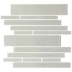 Light Grey Club 7.81 Square Foot Piano Tiles (Case of 11 Sheets)