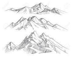Hand Drawing Mountain Ranges In Engraving Style. Vintage Mountains.. Royalty Free Cliparts, Vectors, And Stock Illustration. Image 99435251. Mountain Outline, Mountain Sketch, Mountain Drawing, Free Vector Graphics, Vector Art, Sketch Free, Nature Landscape, Outline Drawings, Art Drawings