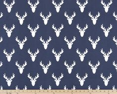 Premier Prints Fabric, Antlers Vintage Indigo Home Decor Fabric, Deer Antlers Nursery Fabric, Buck Fabric, Deer Antlers Decor - By the Navy Blue Curtains, Deer Fabric, California Kids, Panel Curtains, Curtain Panels, Valance, Nursery Fabric, Premier Prints, Home Decor Fabric