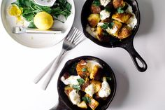 Roasted Potatoes and Burrata from I Am A Food Blog