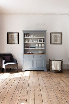 Do Kitchen Dressers Get Any Better Than This We Adore Pretty Victorian Piece Which Weve Painted In A Pastel Vintage Blue Lightly Distresse