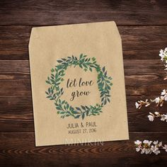 Wedding Seed Packets Watercolor Wreath - W-A103