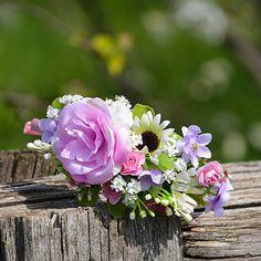 Čelenka do vlasov / Hydrangea - SAShE. Rose, Flowers, Plants, Gifts, Pink, Plant, Roses, Royal Icing Flowers, Flower