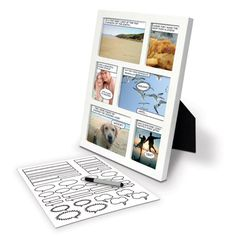 Comic Strip Photo Frame Each frame comes with a selection of speech bubble stickers and a pen. Just add wild pictures and some humor to create a personalised comic page for you and your friends to enjoy. Comic Book Frames, Comic Frame, Comic Books, Cool Gifts, Best Gifts, Awesome Gifts, Awesome Things, Create A Comic, Bubble Stickers