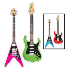 Be a rock star at party decorating with these Guitar Cutouts! Includes 2 cutouts that each measure high. The cutouts have a different color guitar printed on the back.Includes Guitar Cutouts me Beach Party Games, Tween Party Games, Princess Party Games, Backyard Party Games, Dinner Party Games, Halloween Party Games, 80s Party, Drunk Party, Sleepover Party