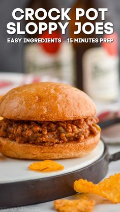 These Crock Pot Sloppy Joes are only 15 minutes hands on time! These homemade sloppy joes are the perfect dinner recipe to come home to. Sloppy Joe Recipe Crock Pot, Homemade Sloppy Joe Recipe, Homemade Sloppy Joes, Slow Cooker Sloppy Joes, Big Mac, Ketchup, Slow Cooker Recipes, Crockpot Recipes, Copycat Recipes