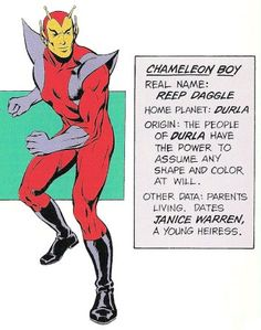 Chameleon Boy of the Legion of Super-Heroes by Dave Cockrum.