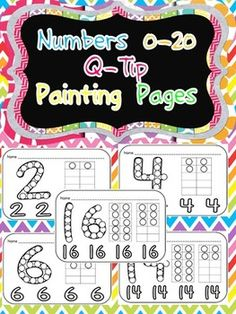 This packet includes pages for students to use for Q-Tip painting for all numbers 0 to 20. Each page has a large numeral for students to paint, along with 4 smaller numerals and the corresponding ten frame.This would make a great math center/station to practice number formation and recognition in a fun, engaging activity!!