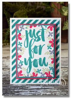"Designed by Stampin' Up! Artisan Design Team member, Connie Collins using the Sale-a-bration set ""Botanicals for You""."