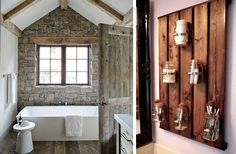 Decorar um banheiro com um estilo rústico