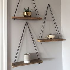 Swing Shelf - Reclaimed Wood Shelf - Wood and Leather - Urban Shelf - Simple Hanging Shelf - Natural Wood Shelf - Bohemian Wood Buyer photo Stephany Copeland (item was rated with the Etsy app for iPho Hanging Wood Shelves, Reclaimed Wood Shelves, Wood Shelf, Rope Shelves, Salvaged Wood, Living Room Decor, Bedroom Decor, Wood Swing, Deco Originale