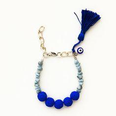 Polymer clay summer fashion bracelet