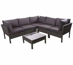 Atlantic Infinity 6-Piece Gray Wicker Seating Set | 55DowningStreet.com