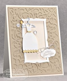 Happily Ever After Card by Kim Singdahlsen #Cardmaking, #Wedding, #LittleBitsDies, #CuttingPlates, #TE, #ShareJoy