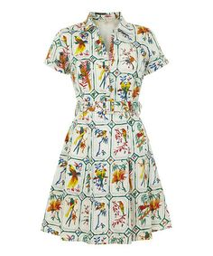 Loving this White Birds Shirt Dress on #zulily! #zulilyfinds