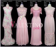 Valentinos in shades of pink