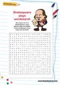 Shakespeare plays word search - free download for KS2 - TheSchoolRun.com