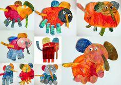 les petites têtes de l'art: Mon éléphant à la manière de Jacinthe Chevalier