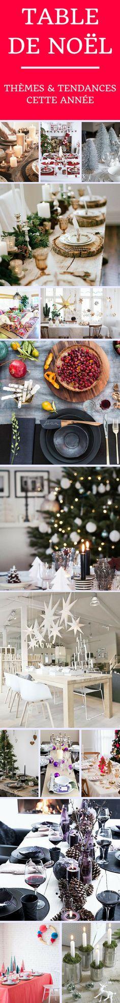 Les thèmes et les tendances de cette année pour la table de Noël !