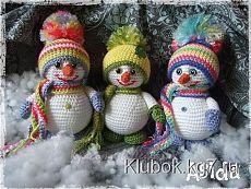 Снеговики, связанные крючком | Клубок
