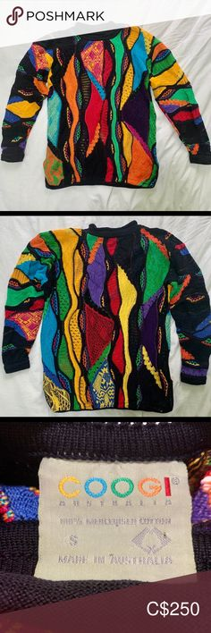 Vintage Coogi sweater Vintage Coogi sweater Color: Multi-color blue Material: Mercerized Cotton Woven from me S Girls, Color Blue, Men Sweater, Knitting, Plus Fashion, Fabric, Composition, Sweaters, Cotton