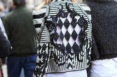 black/white balmain jacket
