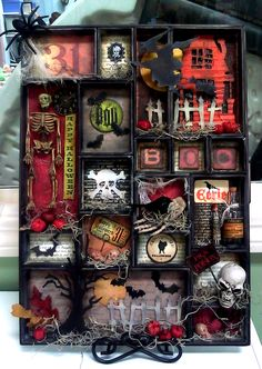 Halloween shadow box - this would be cool for my owls