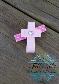 Cross Ribbon Sculpture Hair Clip