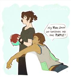 Literally, one of the best Klance pick up lines ever.